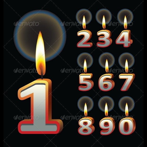 birthday candles vector1