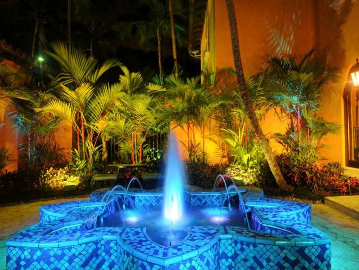 blue fountain light idea