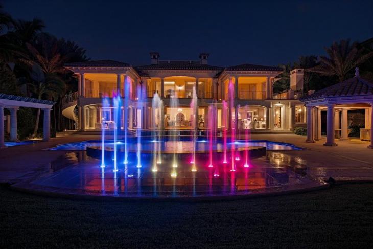 fountain color lighting idea