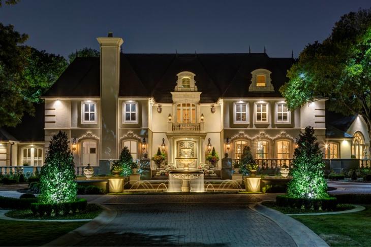 exterior fountain light design