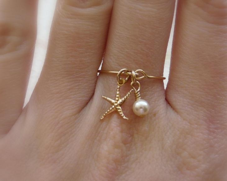 pearl starfish ring design