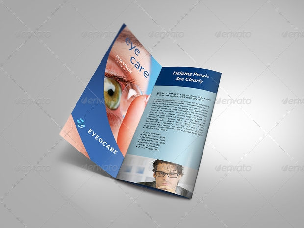 eye hospital brochure template