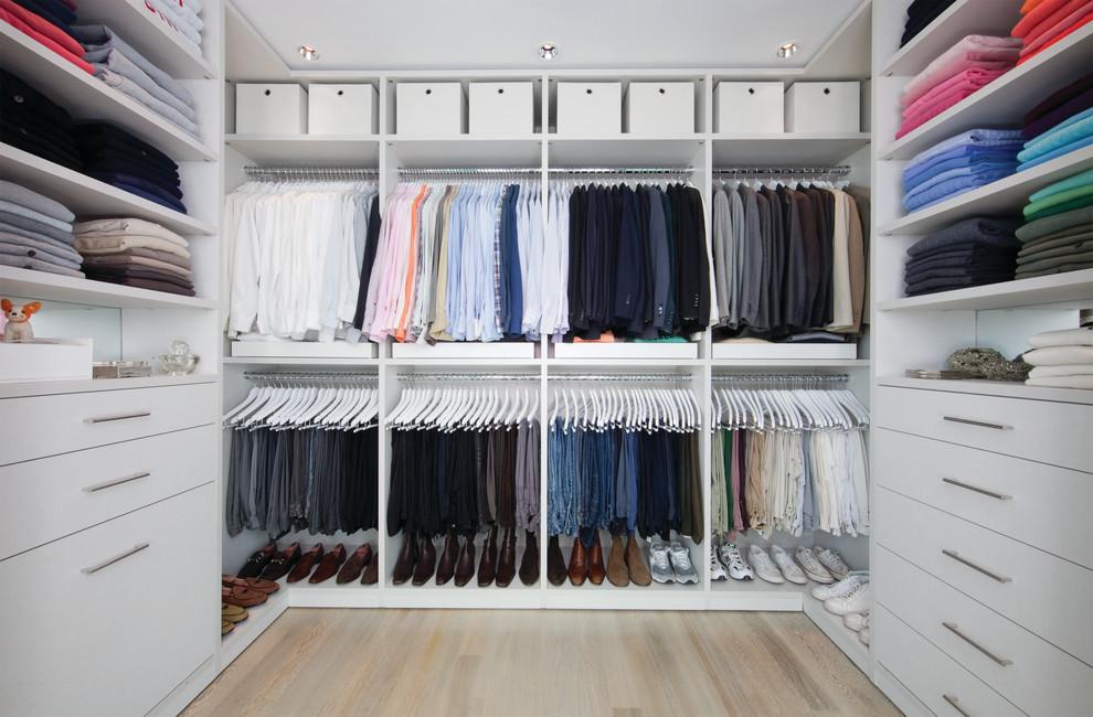 walk in closet storage idea