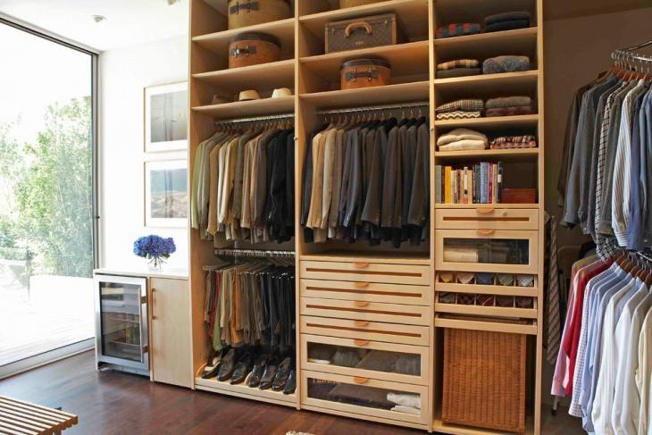 oak closet drawers