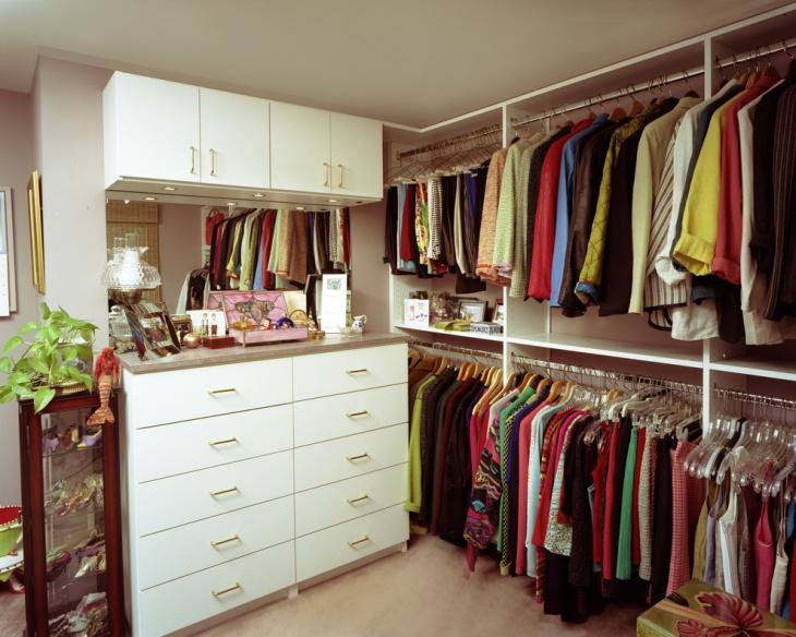 hanging closet idea
