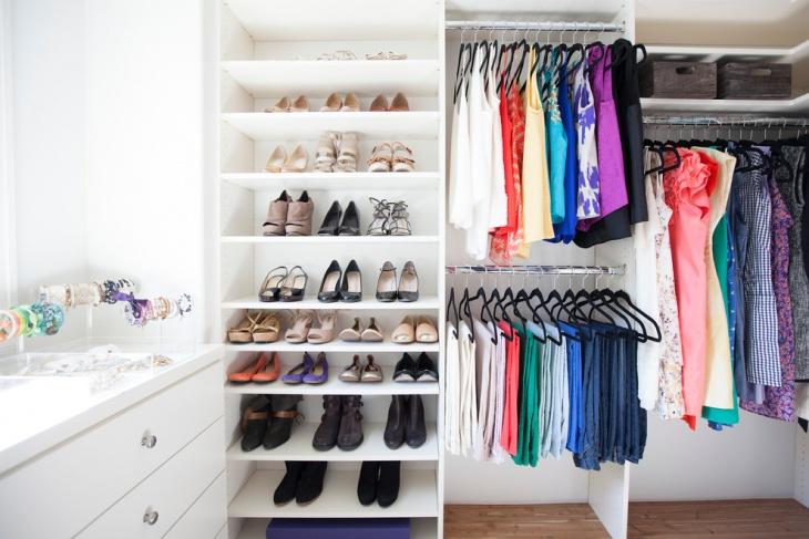 small closet storage idea