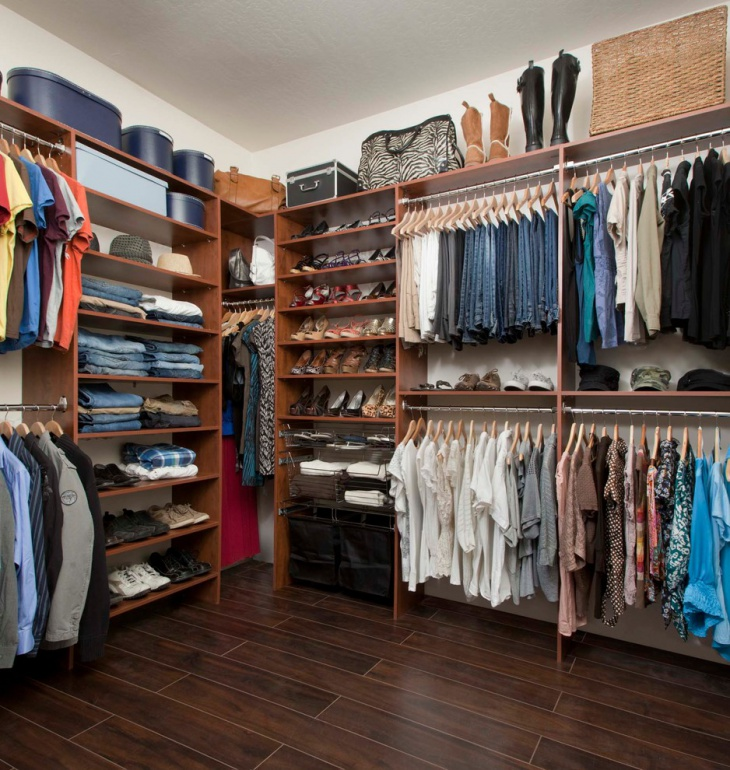 Small Walk In Closet Storage Idea
