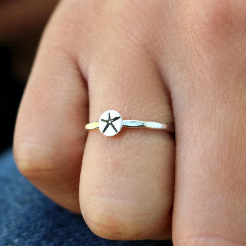 starfish stacking ring design