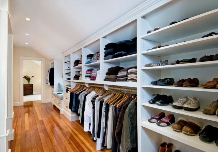 traditional closet storage