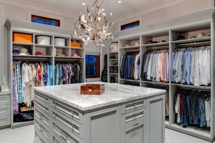 contemporary closet storage idea