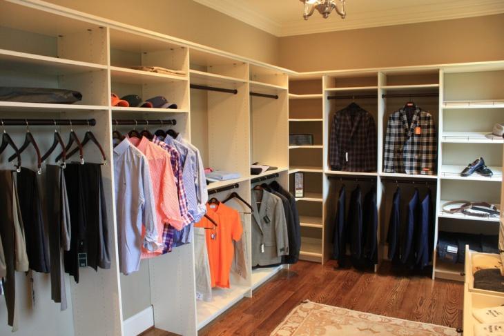 traditional closet shelves idea