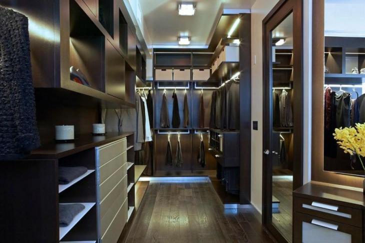 modern closet storage idea