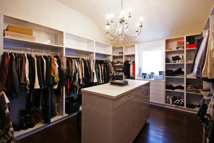 trendy closet storage idea