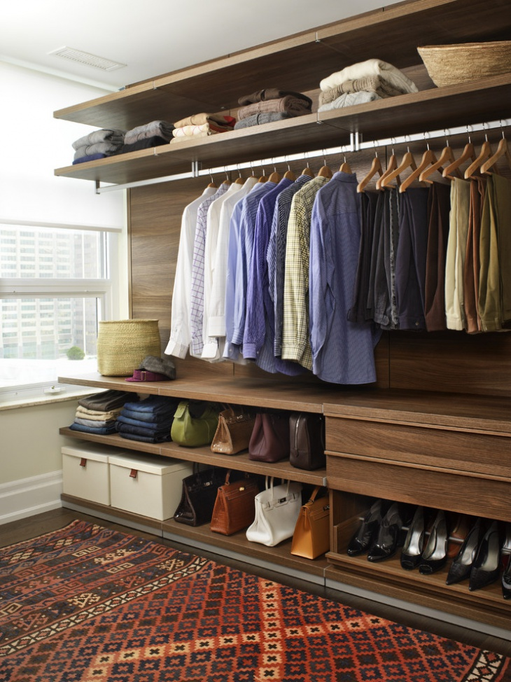 modern small closet storage