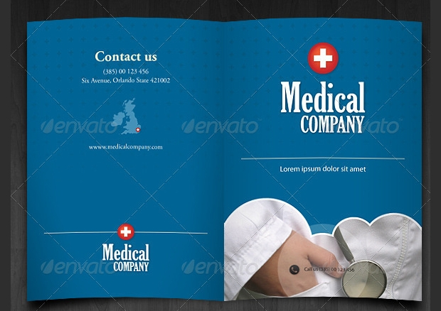blue medical brochure template