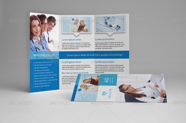 medical tri fold a4 brochure