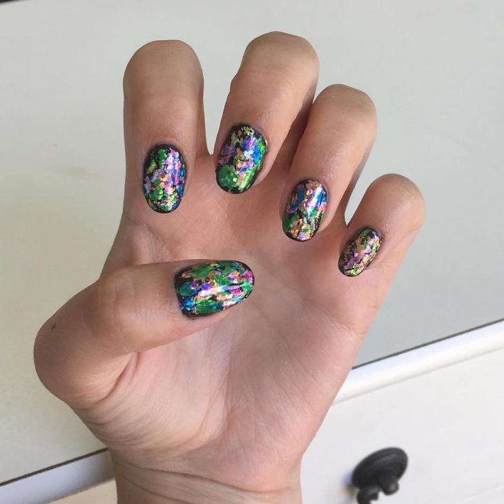 Glitter Dollar Nail Art