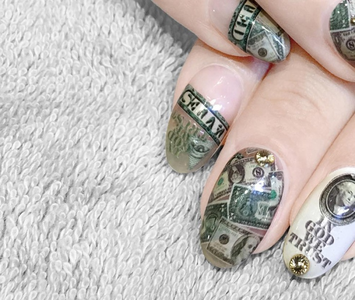 13 dollar nail art designs ideas design trends premium psd dollar money nail art design prinsesfo Images
