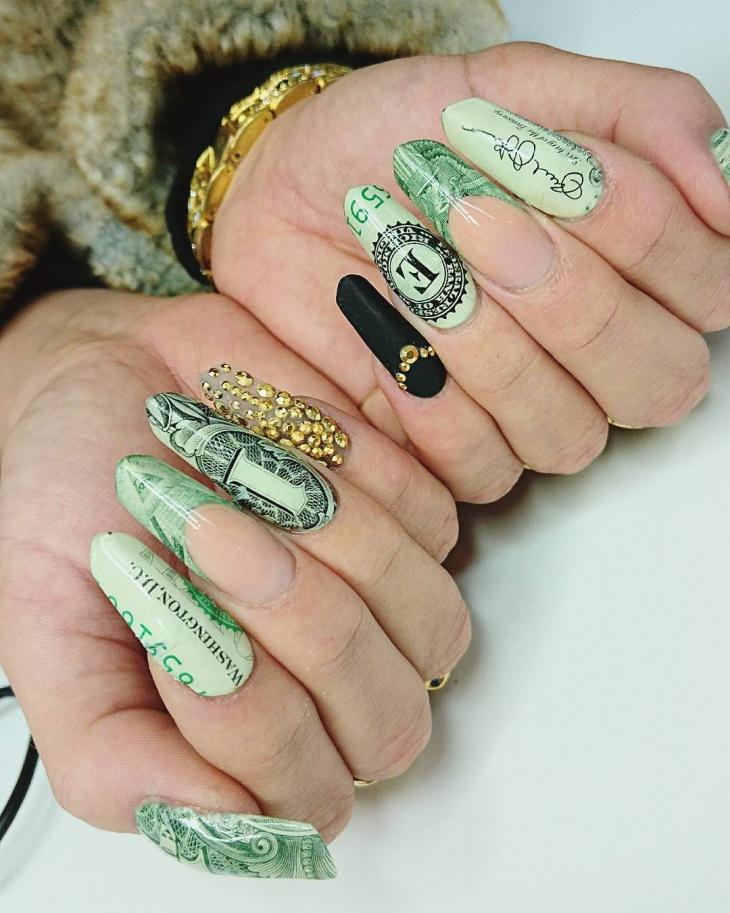Stiletto Dollar Nails