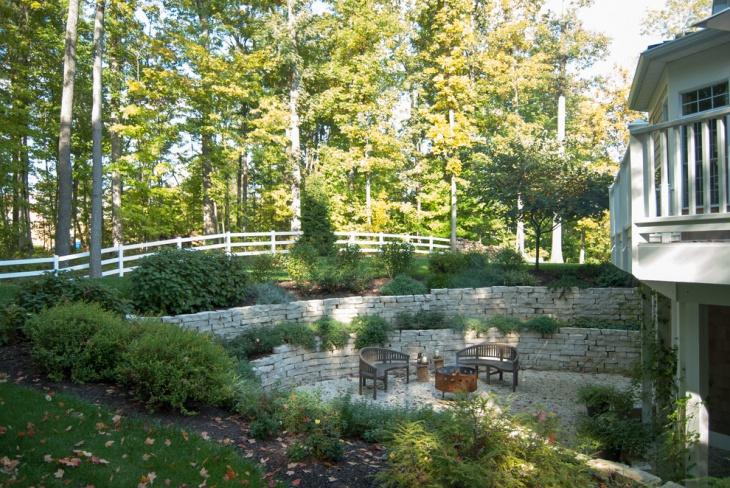 backyard vintage sunken garden
