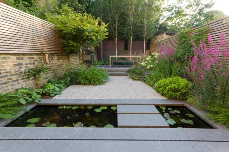 sunken garden pond idea