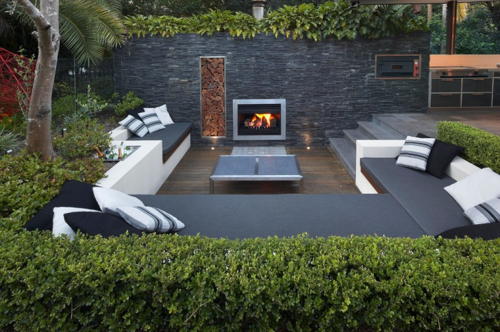 16 sunken garden designs ideas design trends premium for Decoration exterieure jardin contemporain