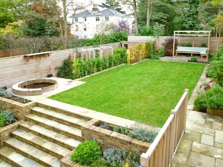 16 sunken garden designs ideas design trends premium for 50ft garden design