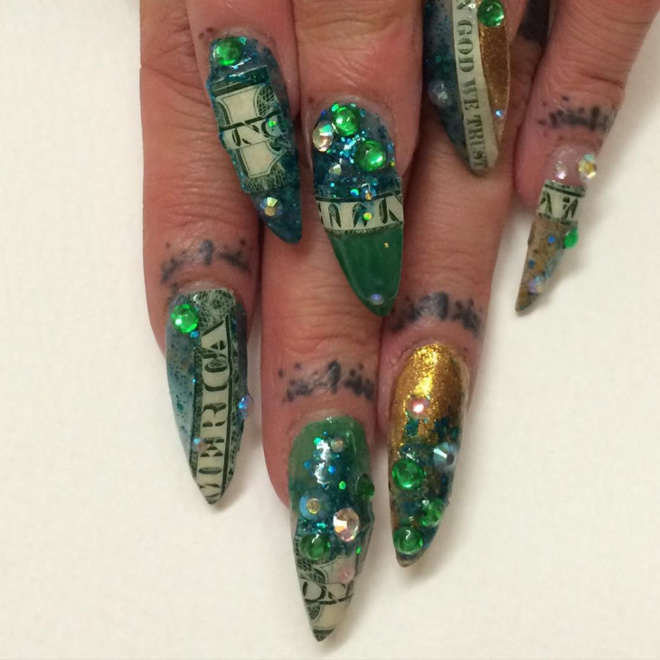 3d Dollar Nail Art