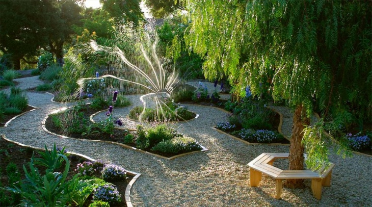sunken bed sprinkle garden
