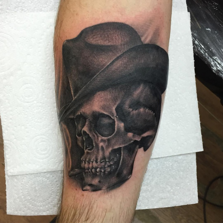 Black Cowboy Tattoo