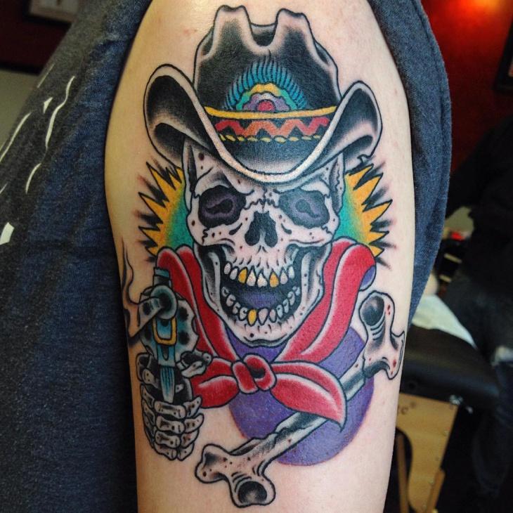 Zombie Cowboy Tattoo