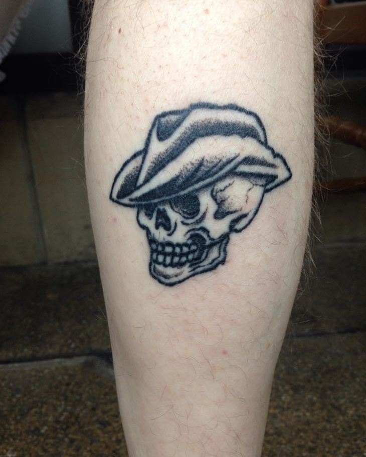 Small Cowboy Tattoo