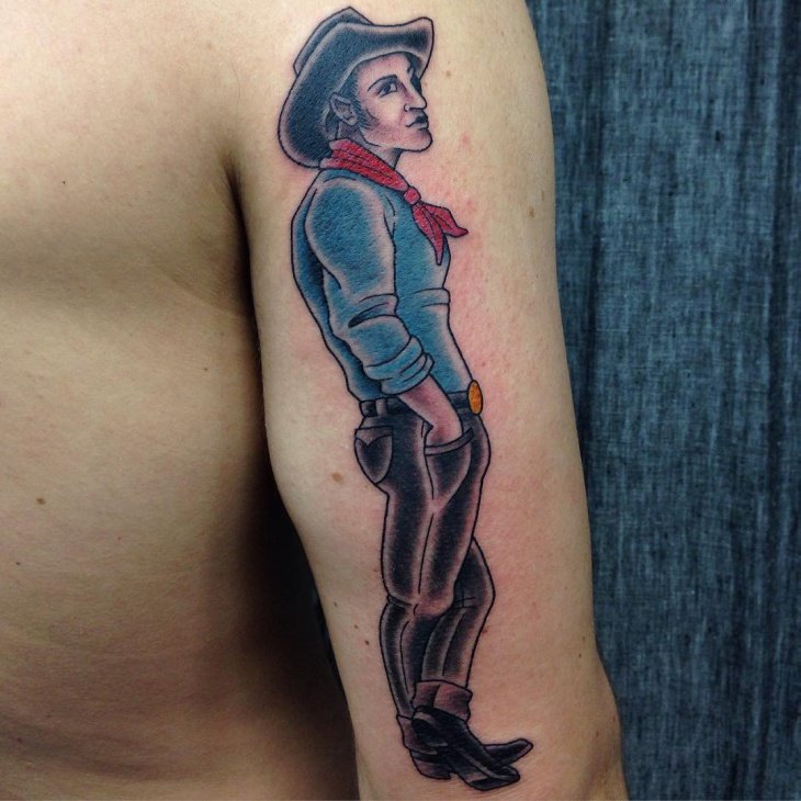 Stylish Cowboy Tattoo for Sleeve
