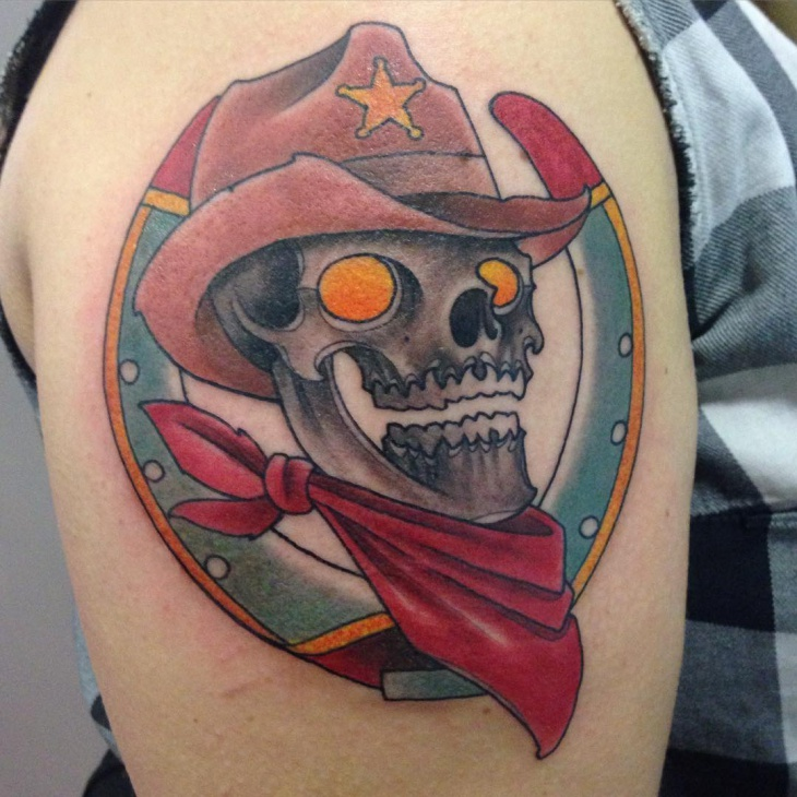 Cowboy Color Tattoo