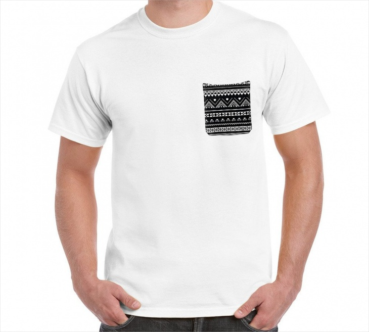 aztec pocket t shirt
