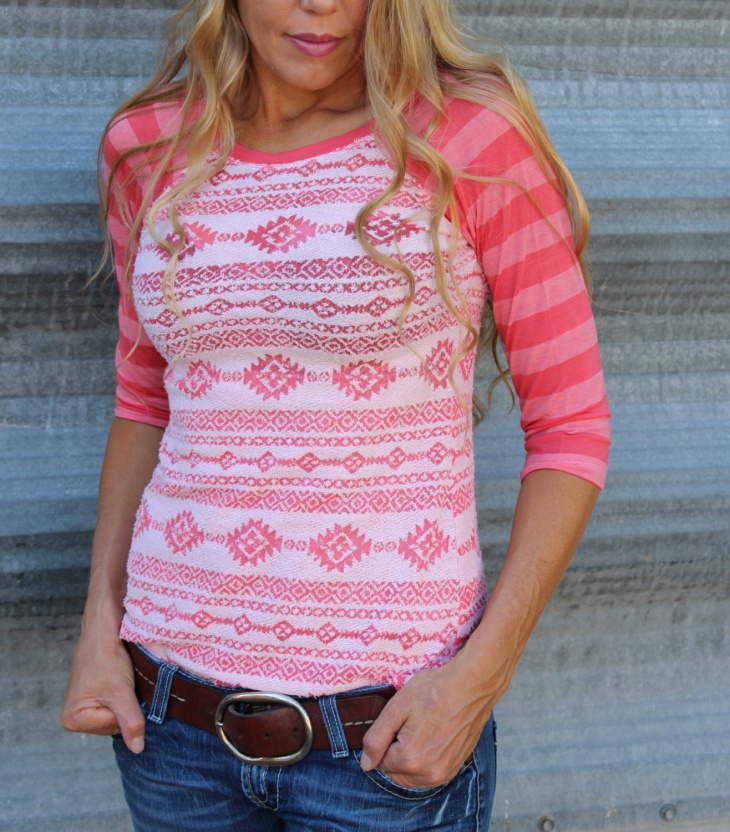 striped aztec t shirt