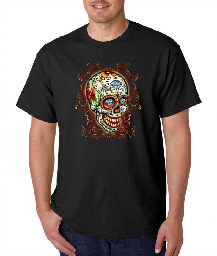 Aztec Skull T Shirt