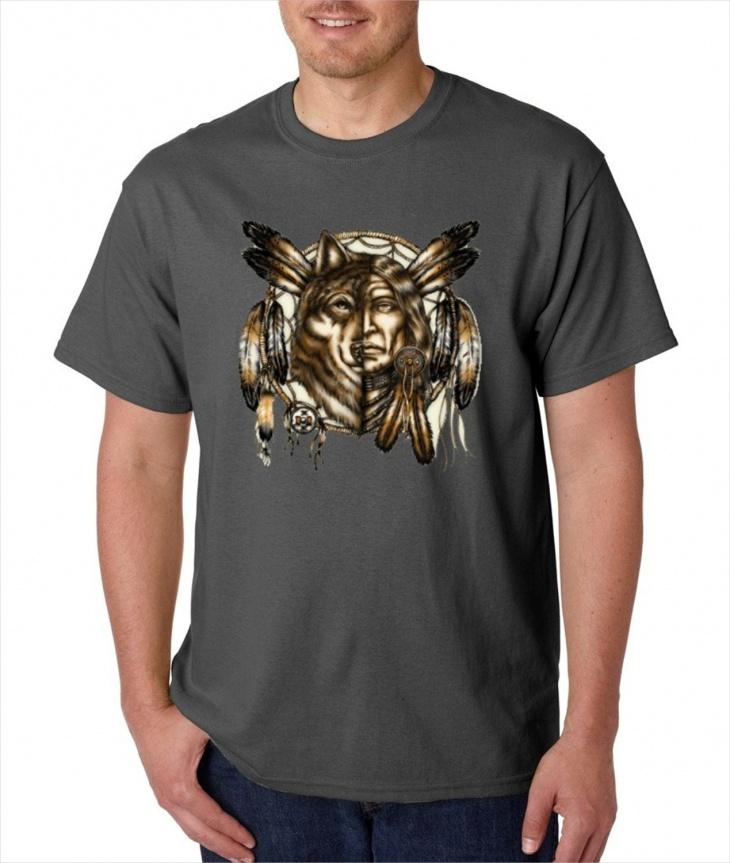 Aztec Wolf T Shirt