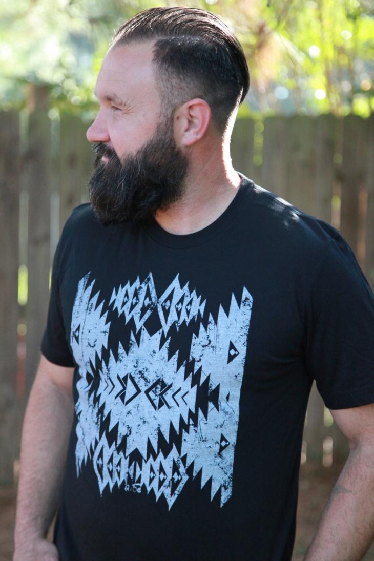 Black Aztec t-shirt