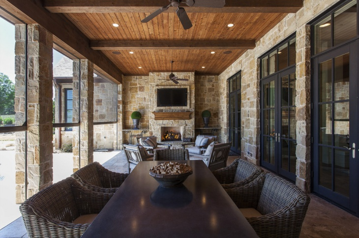 rustic outdoor ceiling