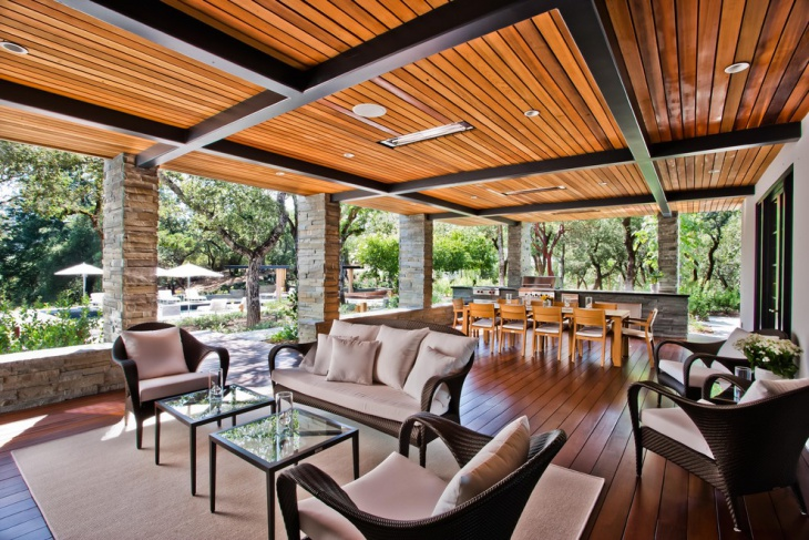 outdoor patio ceiling idea