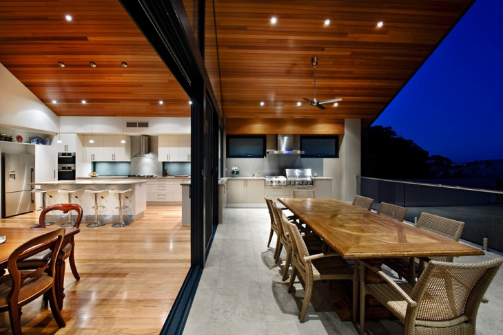 outdoor timber ceiling