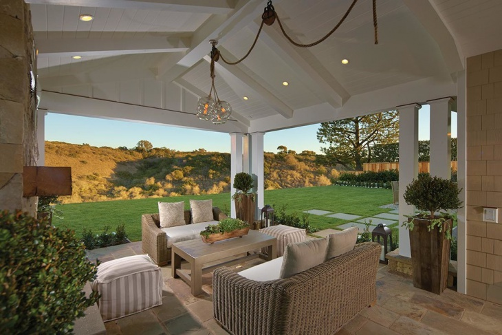 white outdoor ceilings