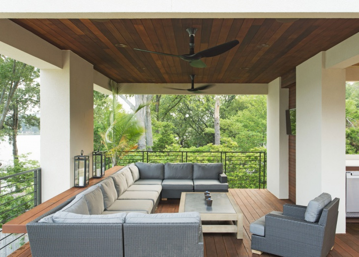 outdoor darkwood ceiling idea