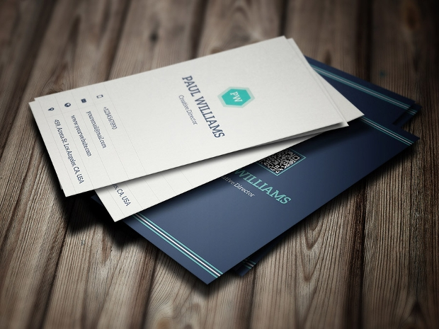 minimal corporate business card design