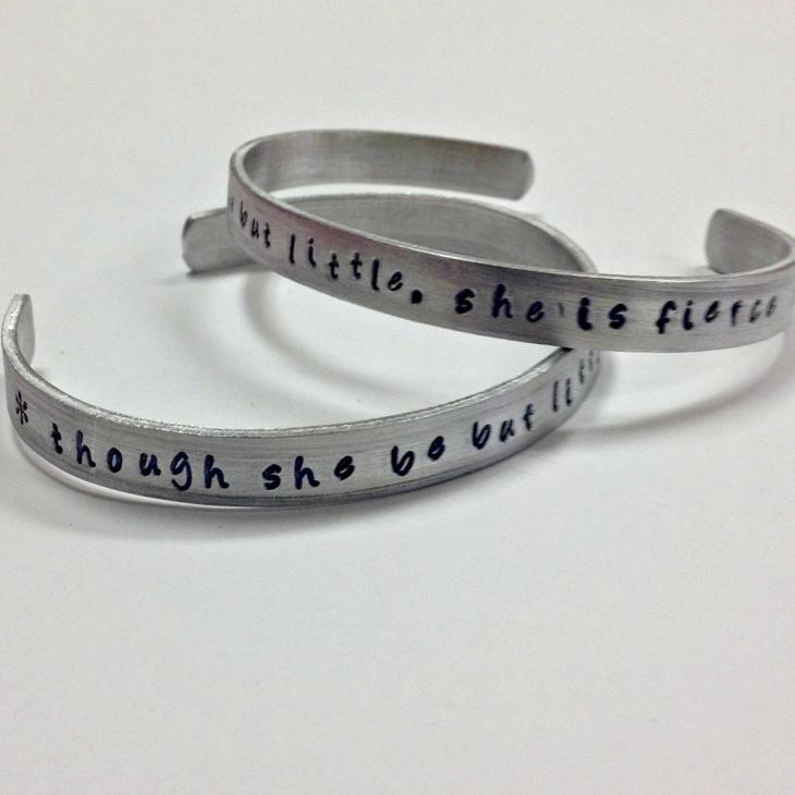Handstamped Cuff Quote Bracelet