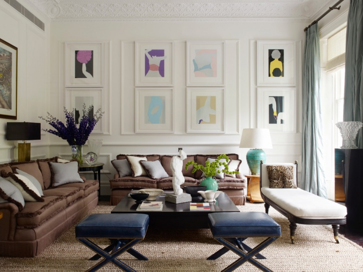 Vintage Living Room staging