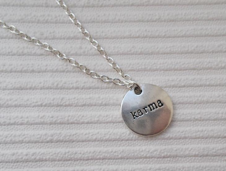 Silver Karma Quote Jewelry