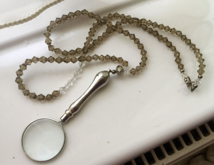 Magnifying Beaded Glass Pendant