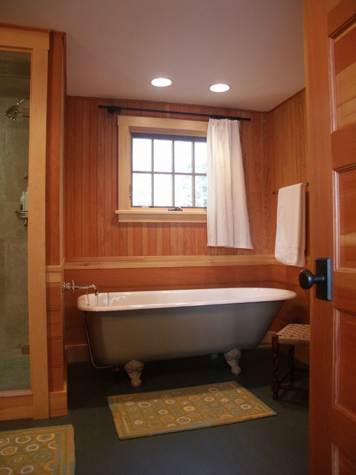 Stained Beadboard Bathroom